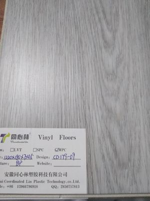 China Click Lock Wpc Vinyl Flooring Ture Glueless Coordinated Lin / OEM distributor