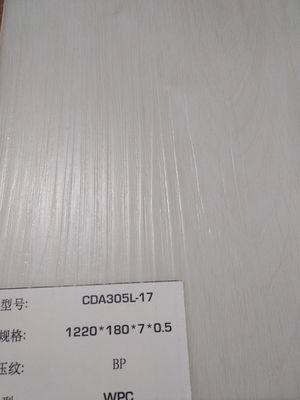 China ISO CE Certified WPC vinyl flooring 0.1mm - 0.7mm Wear Layer for Indoor distributor