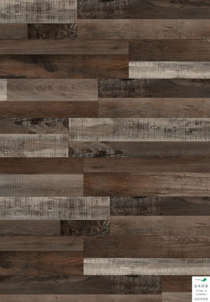 Hardwood Vinyl Flooring Planks Coordinated Lin , Rigid Vinyl Plank Flooring